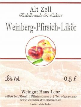Roter Weinbergspfirsich - Likör 18% - Bild vergrößern