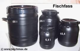 010 Fischfass 55 Liter schwarz UV-beständig - Bild vergrößern