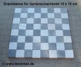 Gartenschachspiel aus Granit 15 x 15 cm 64 Feld - Bild vergrößern
