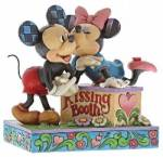Mickey und Minnie Mouse Kissing Booth - Traditions Enesco Figurine