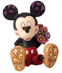 Mickey Mouse mit Blumen - Traditions Enesco Figurine