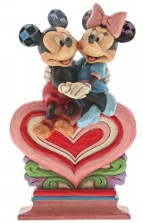 Mickey und Minnie Mouse Heart to Heart - Traditions Enesco Figurine