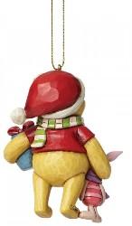 Winnie Pooh und Piglet Weihnachts Ornament - Traditions Enesco Figurine