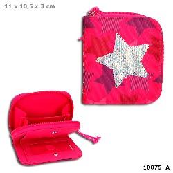 Top Model - Geldbörse - Pailette Stern Pink