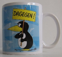 uli stein tasse henkeltasse henkelbecher pinguin dagegen. Black Bedroom Furniture Sets. Home Design Ideas