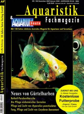 Aquaristik-Fachmagazin, Ausgabe 198 (Dezember 2007/Januar 2008) - Bild vergrößern