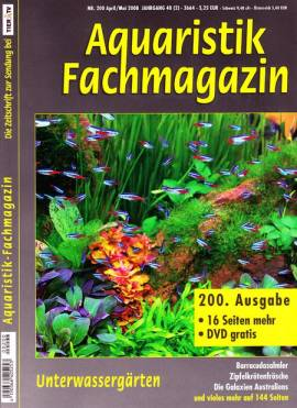 Aquaristik-Fachmagazin, Ausgabe 200 (April/Mai 2008) - Bild vergrößern