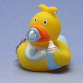 Paperella di gomma Portachiavi Baby Boy - Bild vergrößern