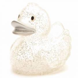 Anatra da bagno Camilla glitter con becco d'argento - Bild vergrößern