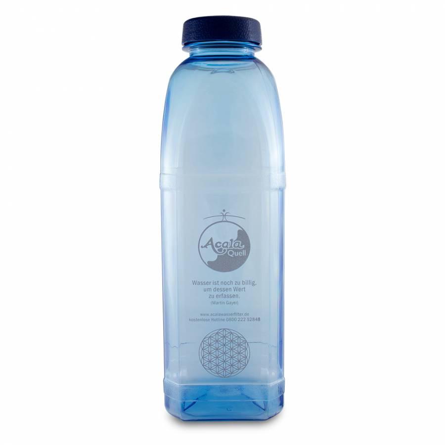 Tritan Trinkflasche 8-kant - 1L mit Blume des Lebens