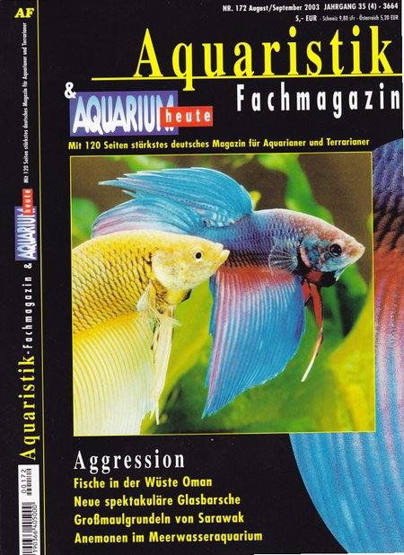 Aquaristik-Fachmagazin, Ausgabe 172