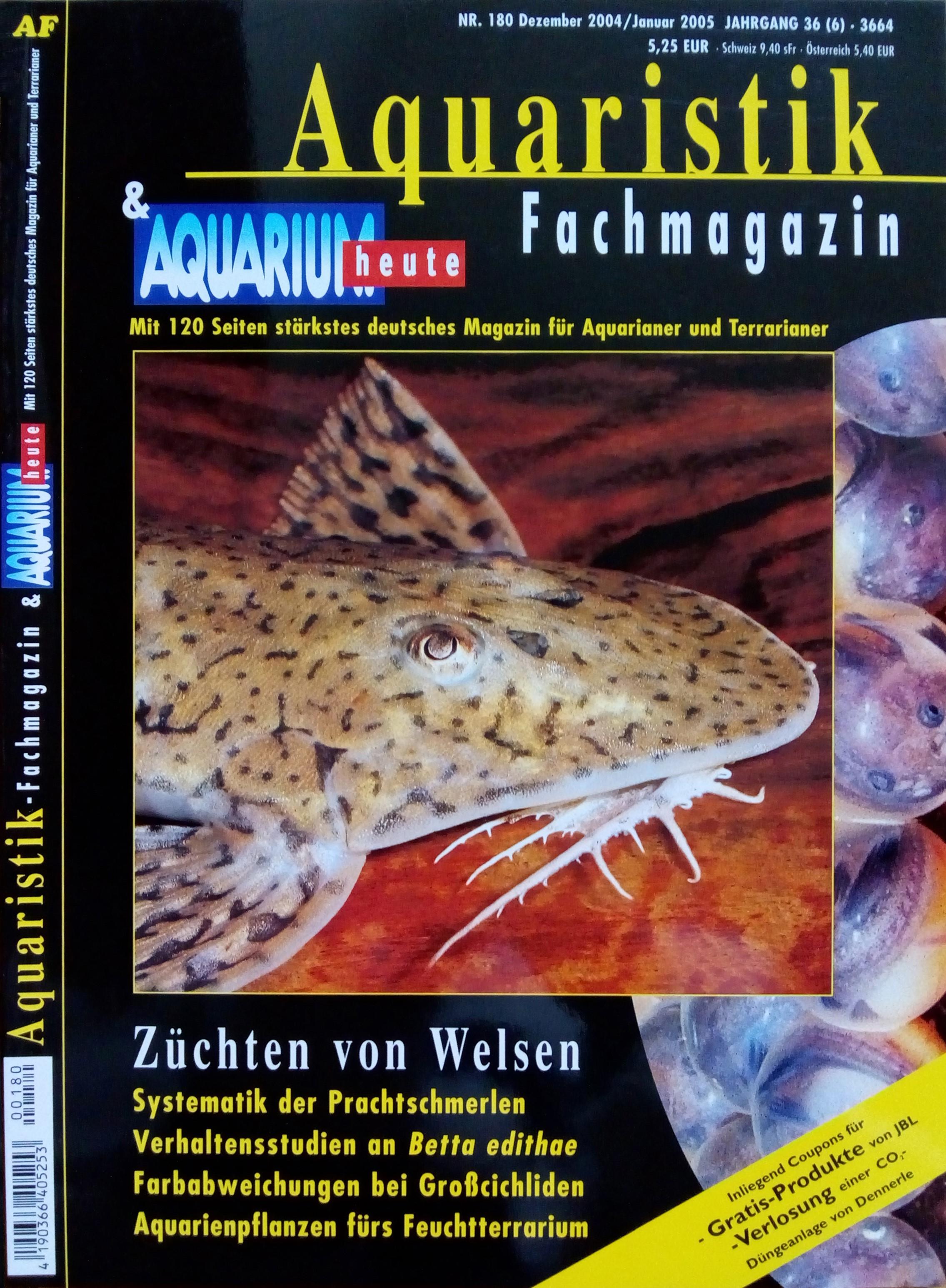 Aquaristik-Fachmagazin, Ausgabe 180
