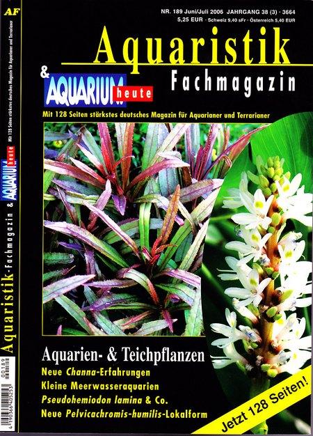 Aquaristik-Fachmagazin, Ausgabe 189