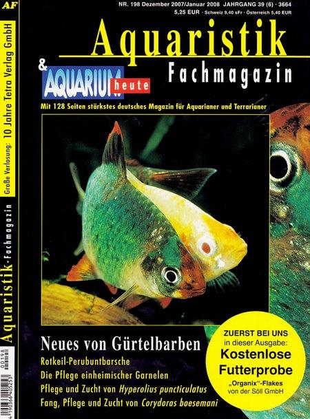 Aquaristik-Fachmagazin, Ausgabe 198 (Dezember 2007/Januar 2008)
