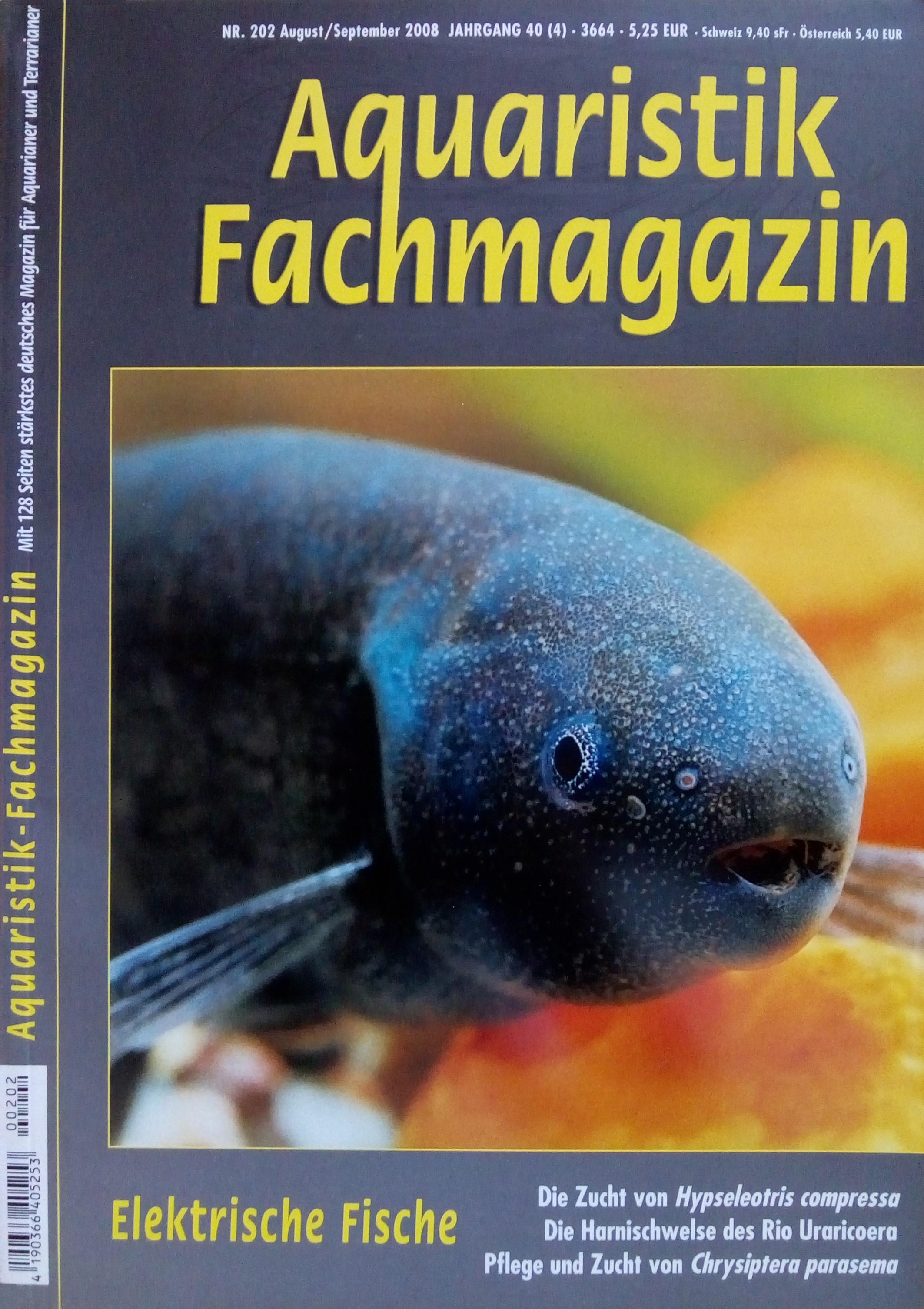 Aquaristik-Fachmagazin, Ausgabe 202 (Aug./Sept. 2008)