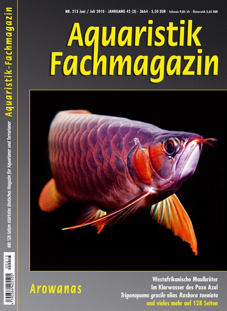 Aquaristik-Fachmagazin, Ausgabe 213 (Juni/Juli 2010)