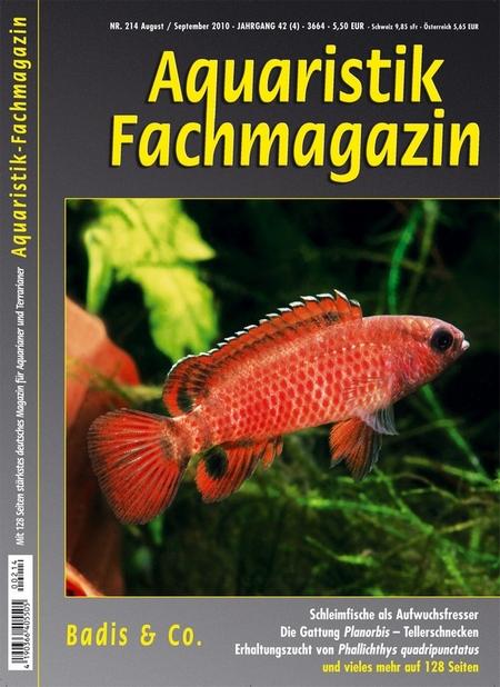 Aquaristik-Fachmagazin, Ausgabe 214 (August/September 2010)
