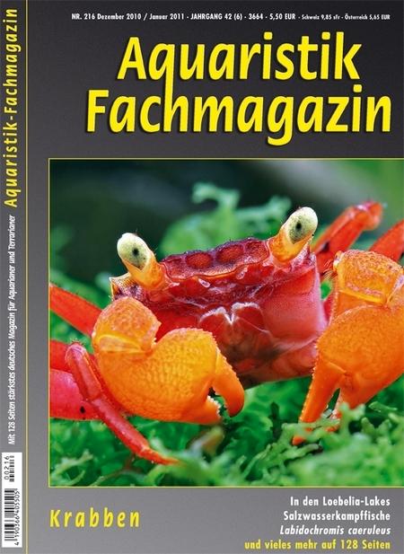Aquaristik-Fachmagazin, Ausgabe 216 (Dez. 2010/Jan.2011)