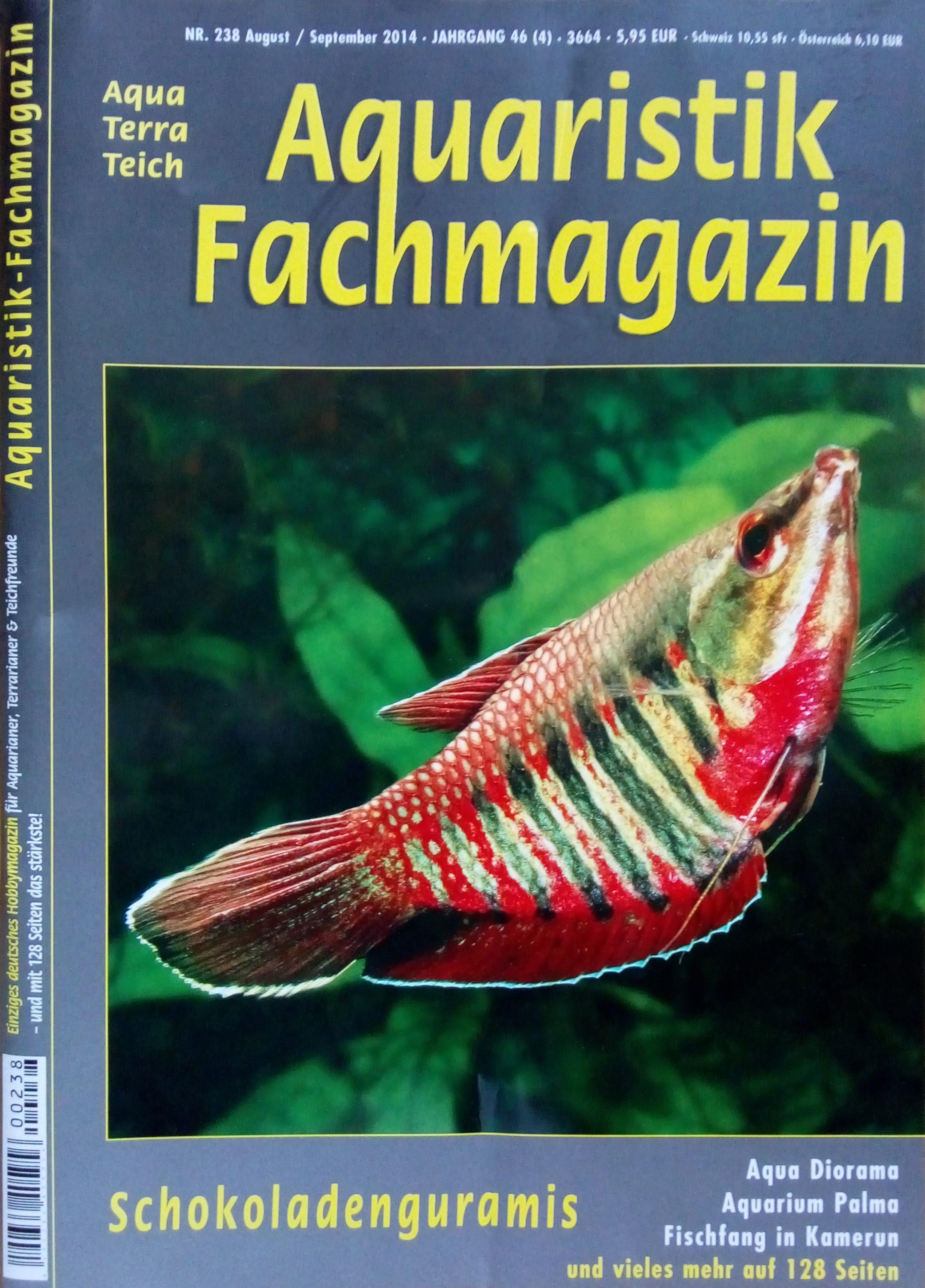 Aquaristik-Fachmagazin, Ausgabe 238 (Aug./Sept. 2014)