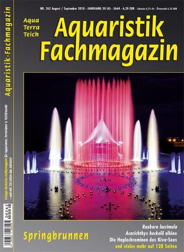 Aquaristik-Fachmagazin, Ausgabe 262 (August/September 2018)