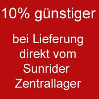 Info über: 10% günstiger bei Lieferung vom  Sunrider Zentrallager