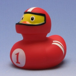 Paperella di gomma rosso Racer