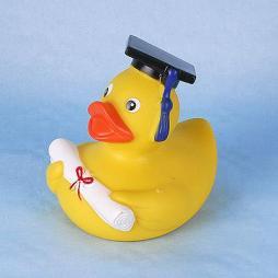 Paperella di gomma la laurea