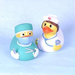 Paperella di gomma coppia Ospedale